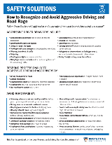 w to Recognize and Avoid Aggressive Driving and Road Rage