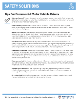 Tips for Commercial Motor Vehicle Drivers