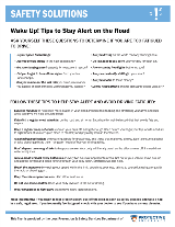Tips to Stay Alert on the Road