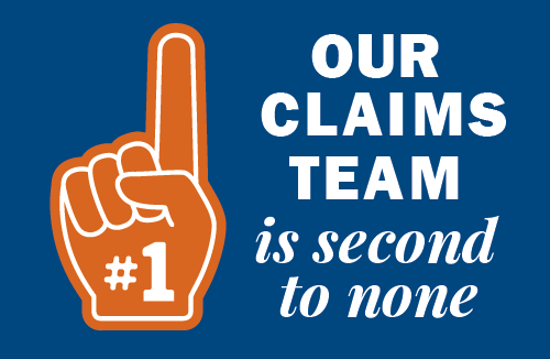 Graphic: Our claims team is second to none